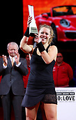 30th April 2017, Stuttgart, Germany; Porsche Tennis Grand Prix Final, ladies singles Stuttgart; Laura SIEGEMUND (GER) played Kristina Mladenovic (FRA) in the final and won the trophy and car