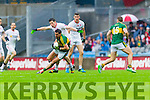 Anthony Maher, Kerry in Action Against Sean Cavanagh, Tyrone in the All Ireland Semi Final at Croke Park on Sunday.