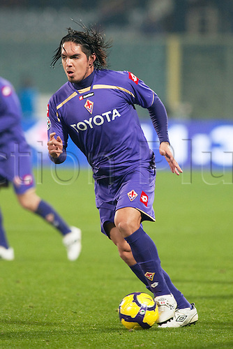 Juan Vargas (Fiorentina), JANUARY 20, 2010 - Football : Italian 'Coppa Italia TIM Cup' quarter final match between Fiorentina 3-2 Lazio at Franchi stadium in Florence, Italy,  Photo: Enrico Calderoni/Actionplus-UK Editorial Licenses Only