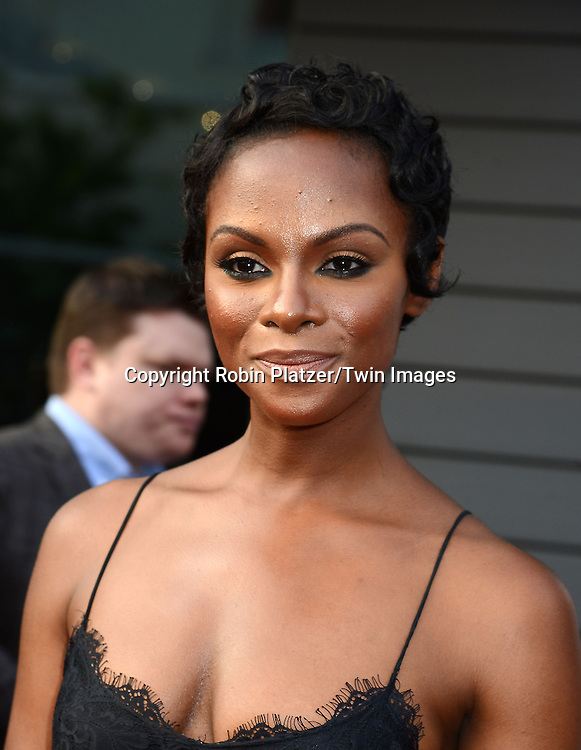 "Tika Sumpter attends the World Premiere of ""Get On Up"" at the Apollo Theater in Harlem in New York Citiy on July 21, 2014."