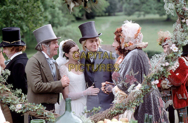 TOM COURTENAY, ANNE HATHAWAY, CHARLIE HUNNAM & DAME EDNA EVERAGE.in Nicholas Nickleby.Ref: FBAW.www.capitalpictures.com.sales@capitalpictures.com.Supplied by Capital Pictures