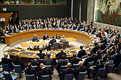 New York, NY - September 24, 2009 -- The United Nations Security Council Summit on nuclear non-proliferation and disarmament unanimously adopted resolution 1887 (2009), expressing the Council's resolve to create the conditions for a world without nuclear weaponsat U.N. Headquarters in New York, New York on Thursday, September 24, 2009. Shown here is a wide view as the vote takes place..Mandatory Credit: UN Photo/Eskinder Debebe via CNP.