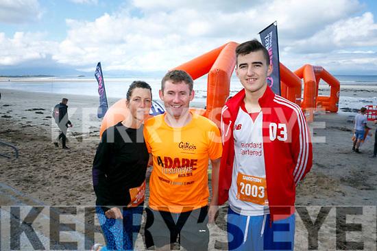 At the start of the 5km Sandstorm challenge last Saturday on Ballyheigue beach were Christine Brosnan, Brian Lucid, Ryan Brodrick