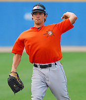 25 June 2007: Jacob Duncan of the Frederick Keys, Class A affiliate of the Baltimore Orioles, vs. the Potomac Nationals, a Washington Nationals affiliate, at Pfitzner Stadium, Woodbridge, Va.  Photo by:  Tom Priddy/Four Seam Images