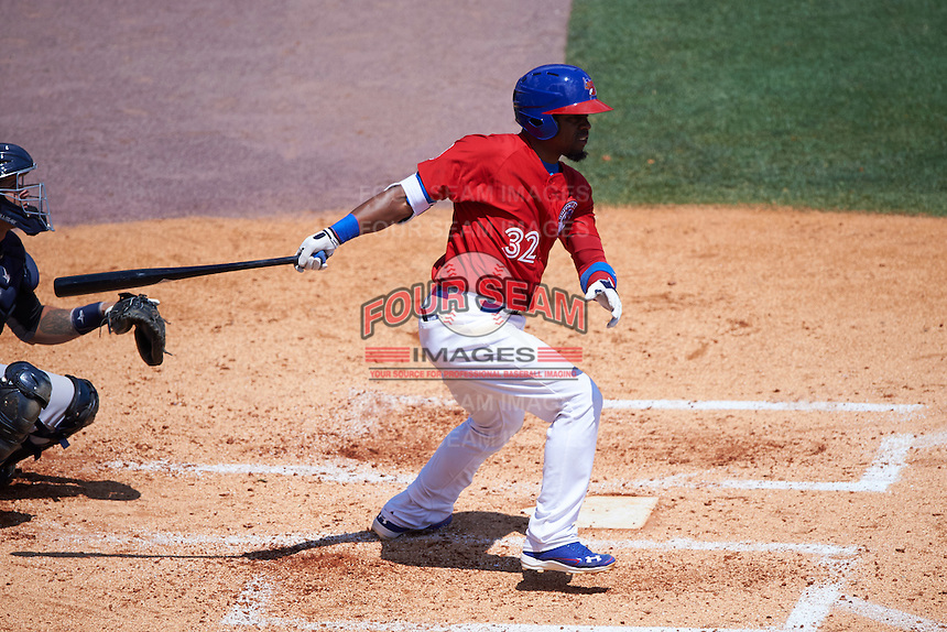 Buffalo Bisons catcher Wilkin Castillo (32) at bat during a game against the Scranton/Wilkes-Barre RailRiders on July 2, 2016 at Coca-Cola Field in Buffalo, New York.  Scranton defeated Buffalo 5-1.  (Mike Janes/Four Seam Images)