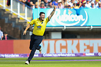Birmingham Bears' Aaron Thomason celebrates running out Glamorgan's Jacques Rudolph<br /> <br /> Photographer Andrew Kearns/CameraSport<br /> <br /> NatWest T20 Blast Semi-Final - Birmingham Bears v Glamorgan - Saturday 2nd September 2017 - Edgbaston, Birmingham<br /> <br /> World Copyright &copy; 2017 CameraSport. All rights reserved. 43 Linden Ave. Countesthorpe. Leicester. England. LE8 5PG - Tel: +44 (0) 116 277 4147 - admin@camerasport.com - www.camerasport.com