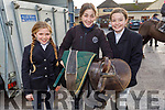 Emily Browne (Ballydonoghue), Eileen O'Connor (Dingle) and Jasmine Enright (Mountcollins) at the Abbeydorney Harriers Hunt on Sunday.