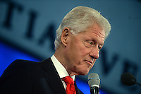 NEW YORK, NY - SEPTEMBER 21: Bill Clinton  speaks during the 2016 Clinton Global Initiative Annual Meeting at Sheraton New York Times Square on September 21, 2016 in New York City.<br /> <br /> <br /> People:  Bill Clinton<br /> <br /> Transmission Ref:  MNC1<br /> <br /> Must call if interested<br /> Michael Storms<br /> Storms Media Group Inc.<br /> 305-632-3400 - Cell<br /> 305-513-5783 - Fax<br /> MikeStorm@aol.com<br /> www.StormsMediaGroup.com
