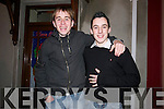 Brian Devane and Shane Finn from Dingle enjoying the New Year's celebrations in Dingle town.