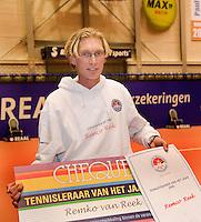 13-12-08, Rotterdam, Reaal Tennis Masters, Tennis teainer van het jaar Remco Reek