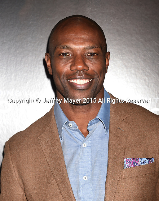 WESTWOOD, CA - NOVEMBER 23: Former NFL player Terrell Owens attends the screening of Columbia Pictures' 'Concussion' at the Regency Village Theater on November 23, 2015 in Westwood, California.