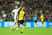 13th September 2017, Wembley Stadium, London, England; Champions League Group stage, Tottenham Hotspur versus Borussia Dortmund; A dejected Pierre-Emerick Aubameyang is caught offside late in the game