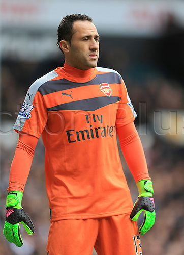 05.03.2016. White Hart Lane, London, England. Barclays Premier League. Tottenham Hotspur versus Arsenal. David Ospina of Arsenal who was in goal in place of the injured Petr Čech.