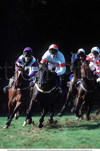 ADRIAN MAGUIRE on GERRY'S PRIDE, Highway Motor November Hurdles, Horse Racing, National Hunt, Fontwell Park, 970904. Photo: Glyn Kirk/Action Plus...1997