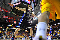 The Blue Devils' Kyle Singler defends the perimeter during inbound. Maryland defeated Duke 79-72 at the Comcast Center in College Park, MD on Wednesday, March 3, 2010. Alan P. Santos/DC Sports Box