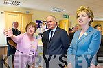 Mary O'Sullivan shows President Mary McAleese and Martin McAleese a mural at Killorglin Resource Centre on Friday