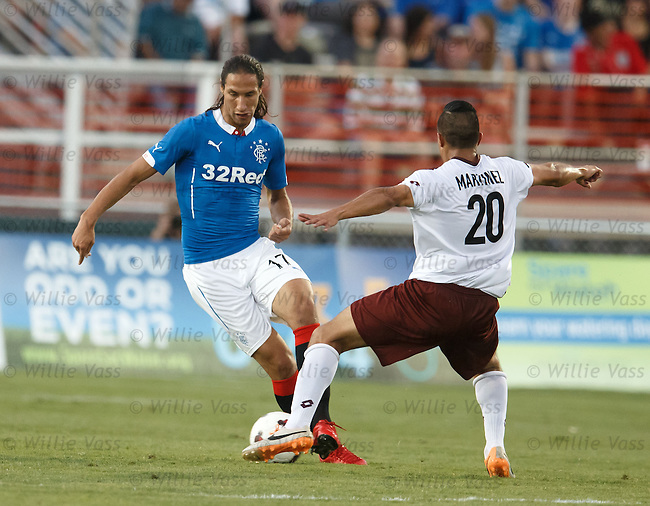 Bilel Mohsni and Carlos Martinez