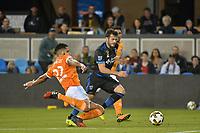 "San Jose, CA - Saturday September 16, 2017: Leonardo, Valeri Qazaishvili ""Vako"" during a Major League Soccer (MLS) match between the San Jose Earthquakes and the Houston Dynamo at Avaya Stadium."