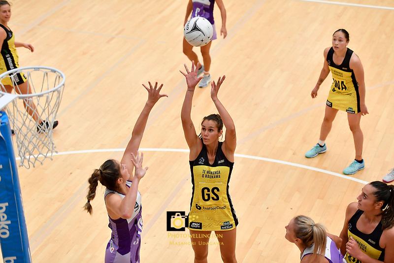 Pulse' Ameliaranne Ekenasio in action during the Netball Pre Season Tournament - Pulse v Stars at Ngā Purapura, Otaki, New Zealand on Saturday 9 February  2019. <br /> Photo by Masanori Udagawa. <br /> www.photowellington.photoshelter.com