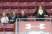 Brooke DiBona, Erin Kickham (BC - 3), Lauren Wedell (BC - 11), Amanda Movsessian (BC - 12) - The Boston College Eagles defeated the visiting University of Maine Black Bears 5 to 1 on Sunday, October 6, 2013, in their Hockey East season opener at Kelley Rink in Conte Forum in Chestnut Hill, Massachusetts.