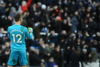 Martin Dubravka of Newcastle United celebrates Matt Ritchie of Newcastle United's opening goal during Newcastle United vs Manchester United, Premier League Football at St. James' Park on 11th February 2018