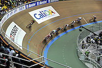 CALI – COLOMBIA – 01-03-2014: Prueba del Scratch Omnium Hombres, en el Velodromo Alcides Nieto Patiño, sede del Campeonato Mundial UCI de Ciclismo Pista 2014. / The test of Men´s Omnium Scratch Race in Alcides Nieto Patiño Velodrome, home of the 2014 UCI Track Cycling World Championships. Photo: VizzorImage / Luis Ramirez / Staff.