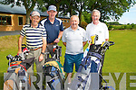 CAPT: Playing in the Capt of Ardfert Golf Club prize day of golf at Ardfert Golf Cluib on Sunday l-r: Andrew and Michael Fealy, Tony Murphy and John Slattery (capt).