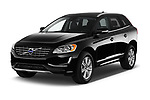2017 Volvo XC60 Inscription 5 Door SUV Angular Front stock photos of front three quarter view