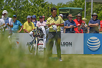 Hideki Matsuyama (JPN) looks over his tee shot on 1 during round 2 of the AT&amp;T Byron Nelson, Trinity Forest Golf Club, at Dallas, Texas, USA. 5/18/2018.<br /> Picture: Golffile | Ken Murray<br /> <br /> <br /> All photo usage must carry mandatory copyright credit (&copy; Golffile | Ken Murray)