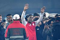 BOGOTA-COLOMBIA, 17-10-2019: Ronaldinho Gaucho ex jugador brasileño Ronaldinho Gaucho se despide durante un partido de exhibición entre Independiente Santa Fe y Atlético Nacional en el estadio Nemesio Camacho El Campín en la ciudad de Bogotá. / Ronaldinho Gaucho Brazilian former player say goodbye, during an exhibition match between Independiente Santa Fe and Atlético Nacional at the Nemesio Camacho El Campín stadium in the city of Bogota. / Photo: VizzorImage / Luis Ramírez / Staff.