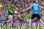 Paul Murphy Kerry in action against Paul Flynn Dublin at the National League Final in Croke Park on Sunday.