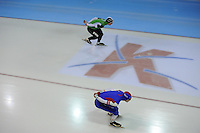 SCHAATSEN: GRONINGEN: Sportcentrum Kardinge, 02-02-2013, Seizoen 2012-2013, Gruno Bokaal, Frank Hermans, Douwe de Vries, ©foto Martin de Jong