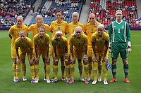 Women's Olympic Football match France v Sweden on 3.8.12...Sweden team for the Women's Olympic Football match between France v Sweden at Hampden Park, Glasgow...............
