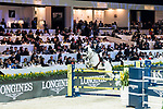 Michael Whitaker of Great Britain riding Valentin R competes in the Hong Kong Jockey Club Trophy during the Longines Masters of Hong Kong at the Asia World Expo on 09 February 2018, in Hong Kong, Hong Kong. Photo by Diego Gonzalez / Power Sport Images