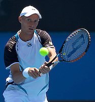 Nicolay Davydenko (RUS) (6) against  Dieter Kindlmann (GER)  in the First Round of the Mens Singles. Davydenko beat  Dieter Kindlmann 6-0 6-1 6-3..International Tennis - Australian Open Tennis - Tuesday 19 Jan 2010 - Melbourne Park - Melbourne - Australia ..© Frey - AMN Images, 1st Floor, Barry House, 20-22 Worple Road, London, SW19 4DH.Tel - +44 20 8947 0100.mfrey@advantagemedianet.com