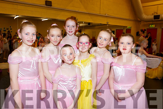 Ready to go on stage in the Kerry School of Music's Ballet Spectacular show in Siamsa Tire on Sunday afternoon last. L-r, Aisling Gaynor, Rachel Sargent, Orla O'Dowd, Roisin Sugrue, Ruby Lawlor, Amelia McCrohan and Caitlin Savage.