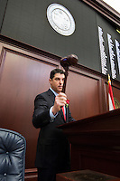 TALLAHASSEE, FLA. 3/3/15-Speaker of the House Steve Crisafulli, R-Merritt Island, gavels open the House at the start of the 2015 Legislative Session, Tuesday at the Capitol in Tallahassee.<br /> <br /> COLIN HACKLEY PHOTO