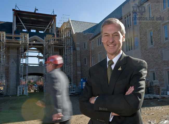 Executive Vice President John Affleck-Graves outside the Eck addition to the Law School for the 2008 Annual Report..Photo by Matt Cashore/University of Notre Dame