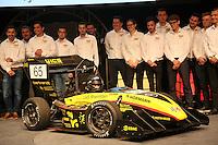"""SPR16 """"Melody"""" wird vom Team der Scuderia Mensa der Öffentlichkeit im Opel Auditorium vorgestellt"""