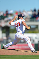 Boston Red Sox pitcher Ryan Rowland-Smith #35 during a Spring Training game against the Miami Marlins at JetBlue Park on March 27, 2013 in Fort Myers, Florida.  Miami defeated Boston 5-1.  (Mike Janes/Four Seam Images)