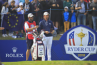 Webb Simpson (Team USA) on the 2nd tee during the Friday Foursomes at the Ryder Cup, Le Golf National, Ile-de-France, France. 28/09/2018.<br /> Picture Thos Caffrey / Golffile.ie<br /> <br /> All photo usage must carry mandatory copyright credit (&copy; Golffile | Thos Caffrey)