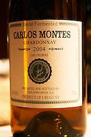 Barrel fermented Carlos Monter Chardonnay 2004 Las Piedras Toscanini Hermanos Montevideo, Uruguay, South America Uruguay wine production institute Instituto Nacional de Vitivinicultura INAVI