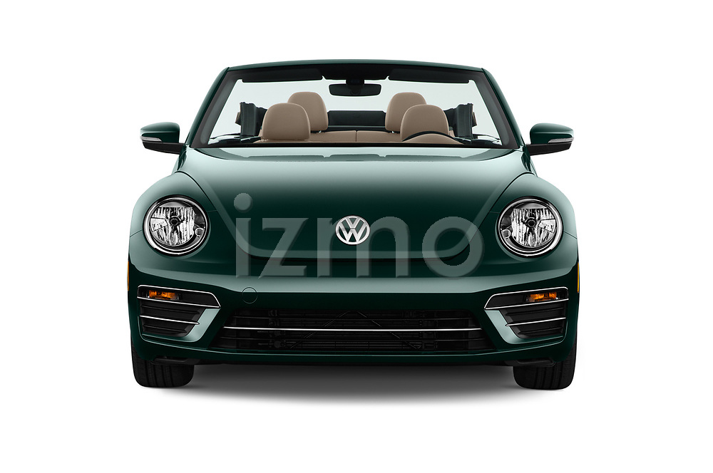 Car photography straight front view of a 2017 Volkswagen Beetle S 2 Door Convertible Front View