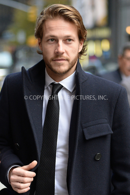 www.acepixs.com<br /> November , 2016 New York City<br /> <br /> Luke Bracey arriving to tape an appearance on 'The Late Show with Stephen Colbert' on November, 2016 in New York City.<br /> <br /> Credit: Kristin Callahan/ACE Pictures<br /> <br /> Tel: (646) 769 0430<br /> e-mail: info@acepixs.com