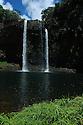 Wailua Falls on the eastern side of the island of Kauai, Hawaii.