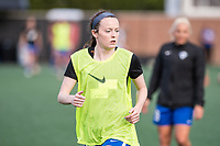 Boston, MA - Saturday April 29, 2017: Rose Lavelle during warmups before a regular season National Women's Soccer League (NWSL) match between the Boston Breakers and Seattle Reign FC at Jordan Field.