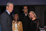 Terry Lundgren and wifeTina pose with Cicely Tyson and B Michael (designer) at The 11th Annual Skating with the Stars Gala - a benefit gala for Figure Skating in Harlem - honoring Cicely Tyson (film, tv and stage actress and was on The Guiding Lignt) on April 11, 2016 on Park Avenue in New York City, New York with many Olympic Skaters and Celebrities. (Photo by Sue Coflin/Max Photos)