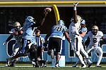 15 November 2014: UNC's Marquise Williams (12). The University of North Carolina Tar Heels hosted the University of Pittsburgh Panthers at Kenan Memorial Stadium in Chapel Hill, North Carolina in a 2014 NCAA Division I College Football game. UNC won the game 40-35.