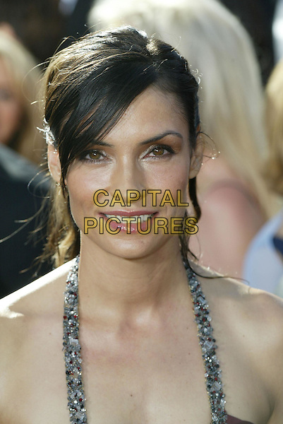 FAMKE JANSSEN.At the 56th Annual Prime Time Emmy Awards held the Shrine Auditorium, Los Angeles, CA, USA, .19th September, 2004..portrait headshot sweeping side fringe.Ref: ADM.www.capitalpictures.com.sales@capitalpictures.com.©Charles Harris/AdMedia/Capital Pictures .