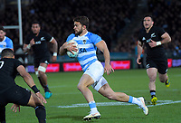 Argentina's Ramiro Moyano heads for the tryline during the Rugby Championship match between the New Zealand All Blacks and Argentina Pumas at Trafalgar Park in Nelson, New Zealand on Saturday, 8 September 2018. Photo: Dave Lintott / lintottphoto.co.nz